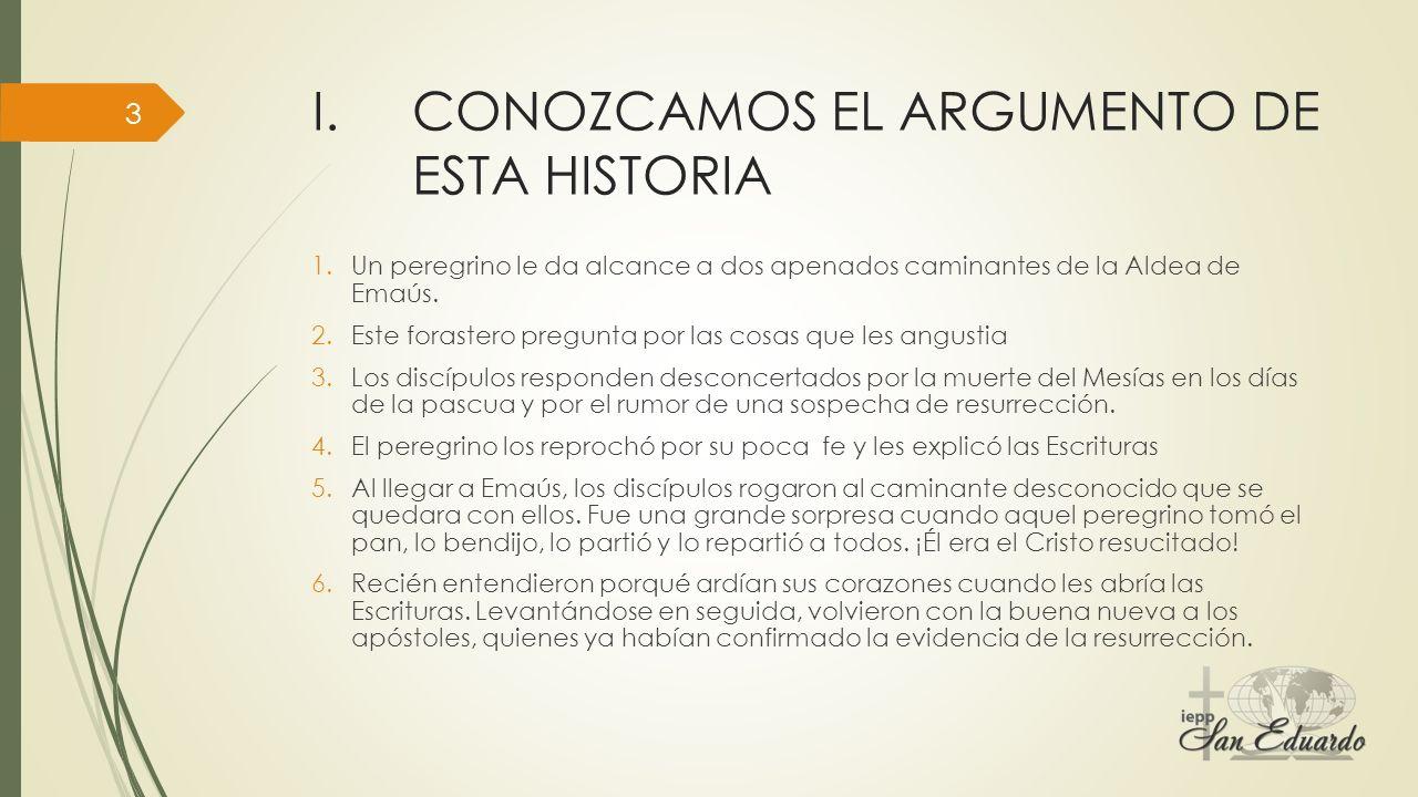 CONOZCAMOS EL ARGUMENTO DE ESTA HISTORIA