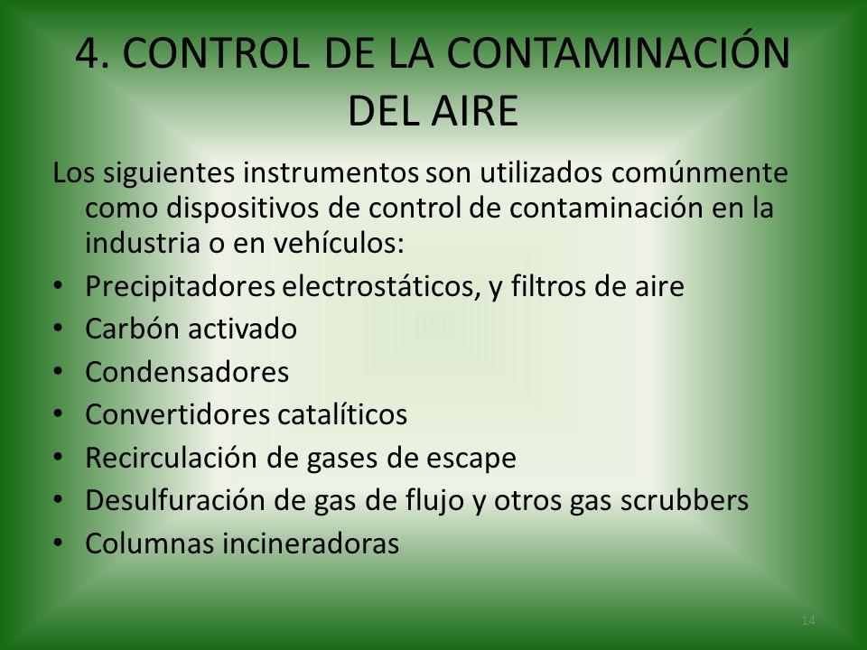 4. CONTROL DE LA CONTAMINACIÓN DEL AIRE