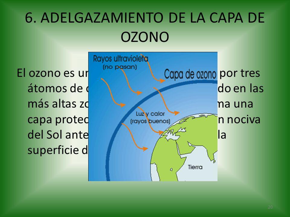 6. ADELGAZAMIENTO DE LA CAPA DE OZONO