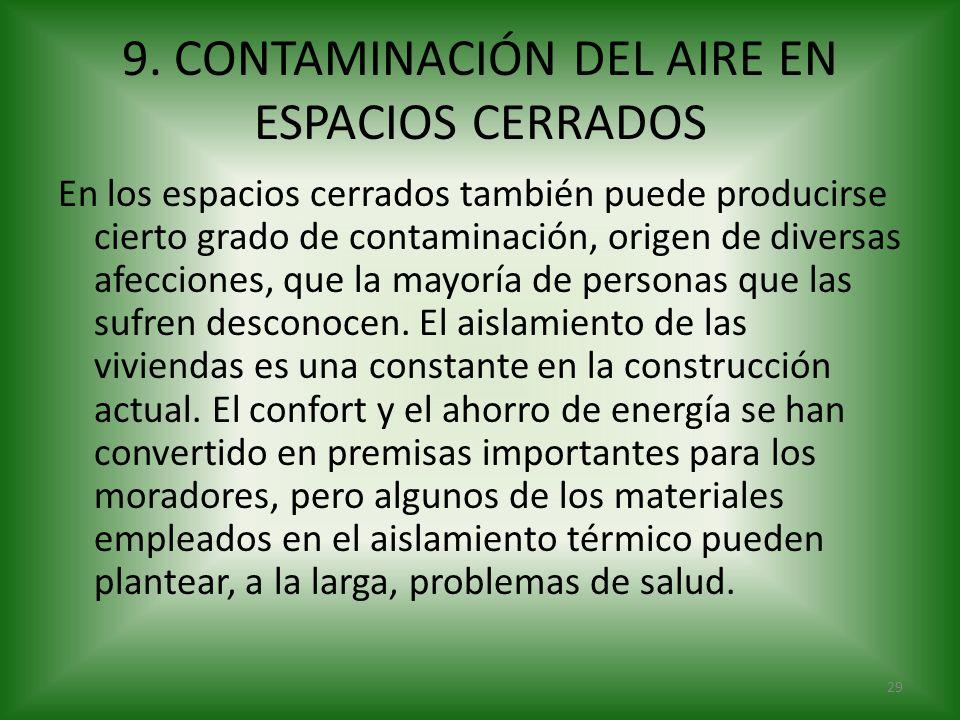 9. CONTAMINACIÓN DEL AIRE EN ESPACIOS CERRADOS