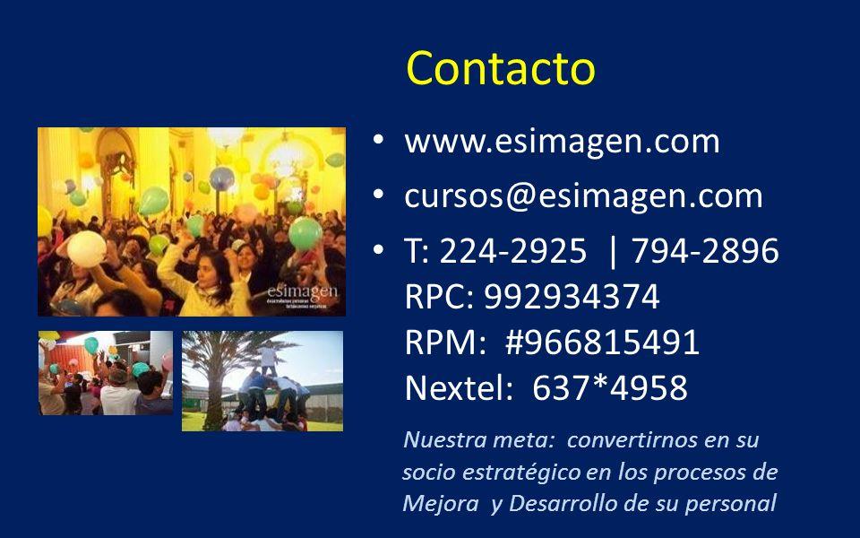 Contacto www.esimagen.com cursos@esimagen.com