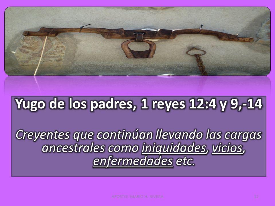 Yugo de los padres, 1 reyes 12:4 y 9,-14