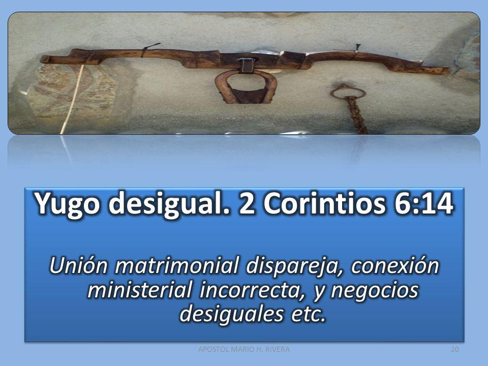 Yugo desigual. 2 Corintios 6:14