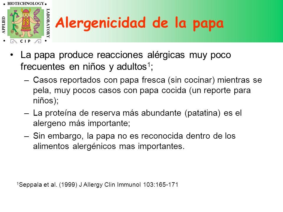Alergenicidad de la papa