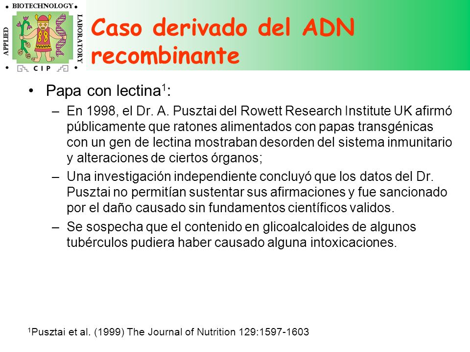 Caso derivado del ADN recombinante