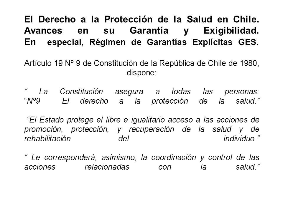 El Derecho a la Protección de la Salud en Chile