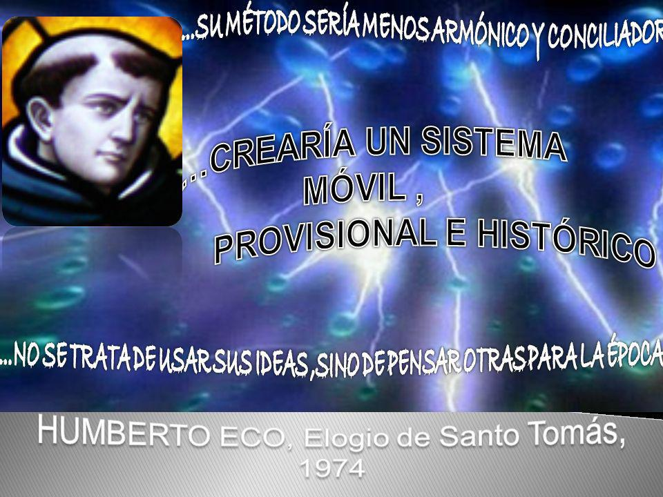 HUMBERTO ECO, Elogio de Santo Tomás,