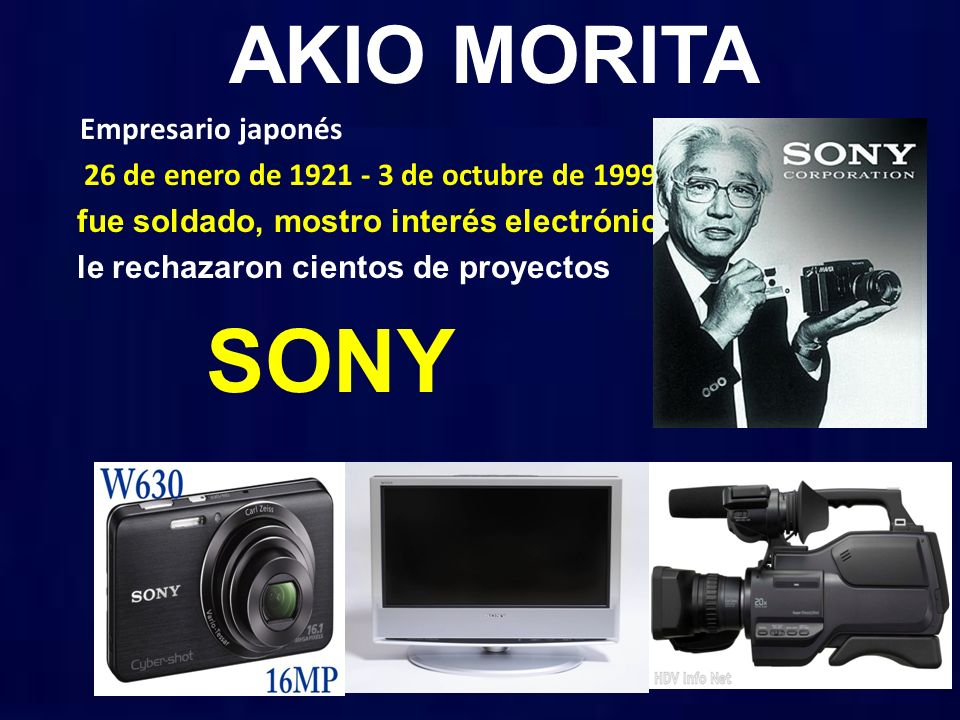 SONY AKIO MORITA Empresario japonés