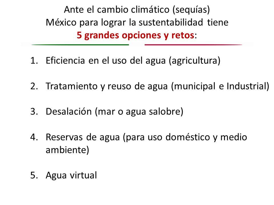 Ante el cambio climático (sequías)