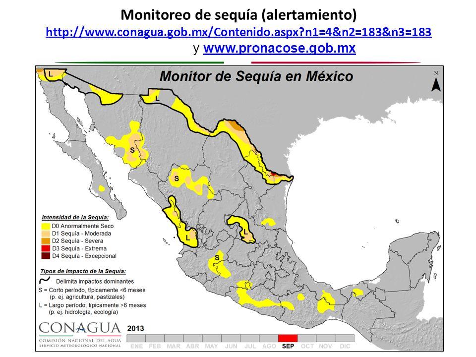 Monitoreo de sequía (alertamiento) http://www. conagua. gob