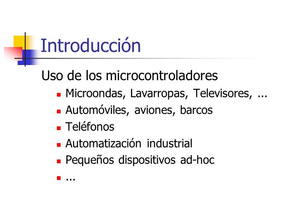 Introducción Uso de los microcontroladores