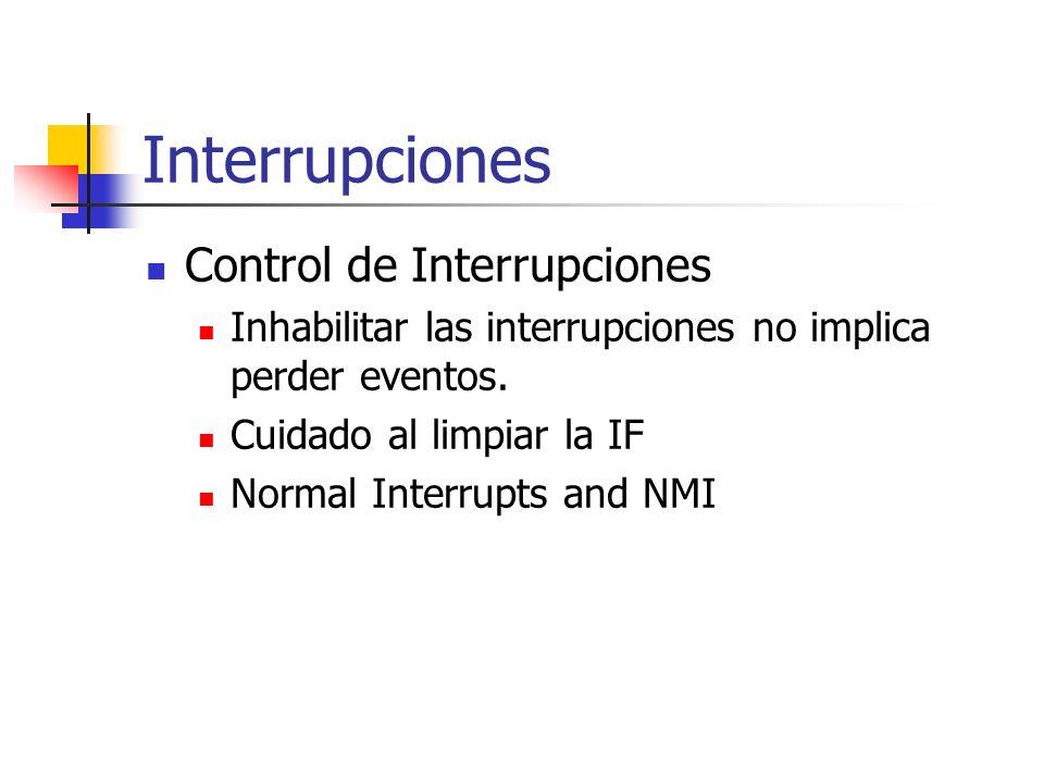 Interrupciones Control de Interrupciones