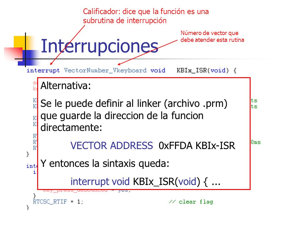 Interrupciones Alternativa: