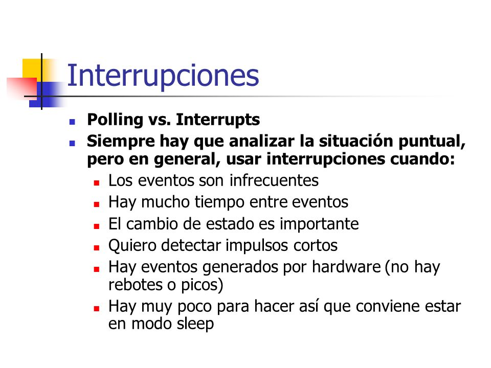 Interrupciones Polling vs. Interrupts