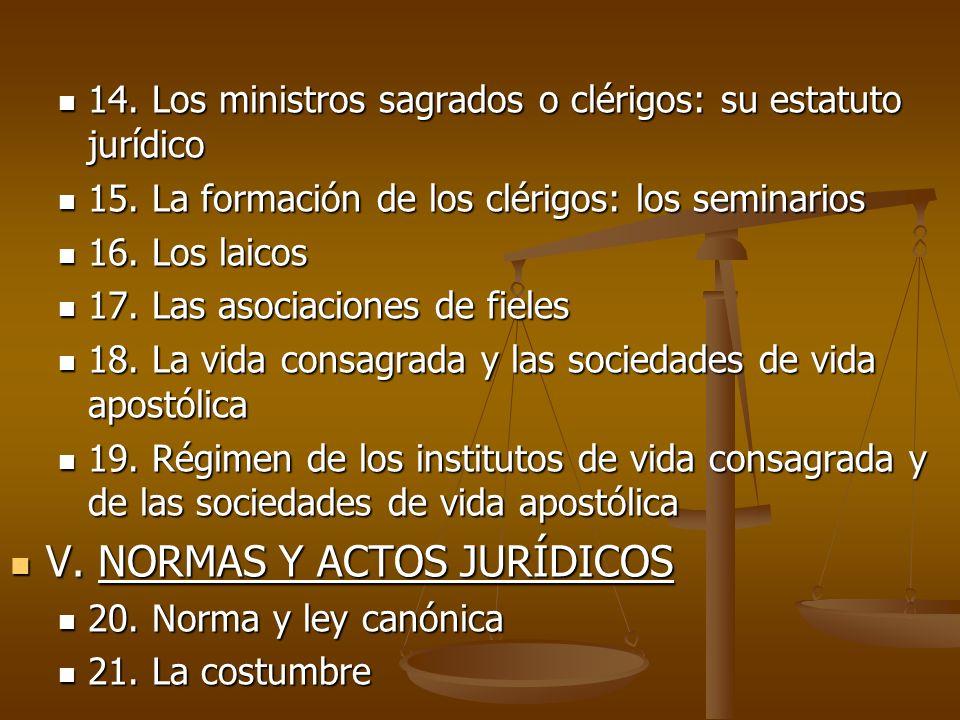 V. NORMAS Y ACTOS JURÍDICOS