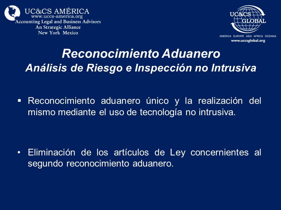 Reconocimiento Aduanero Análisis de Riesgo e Inspección no Intrusiva