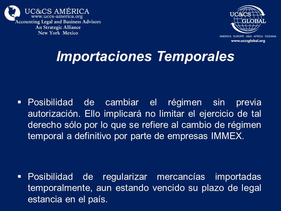 Importaciones Temporales