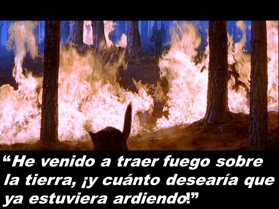 He venido a traer fuego sobre la tierra, ¡y cuánto desearía que ya estuviera ardiendo!