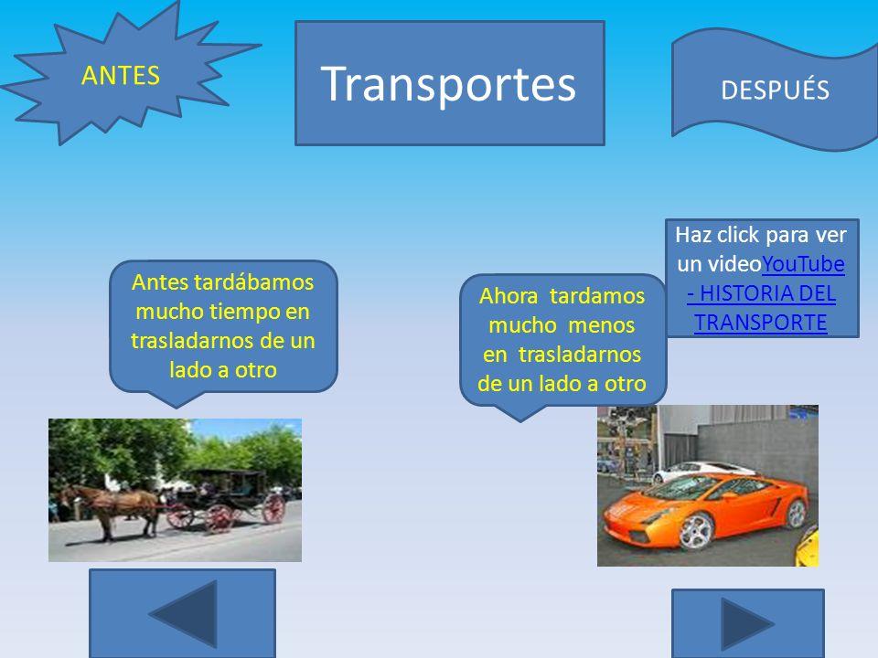Transportes ANTES DESPUÉS