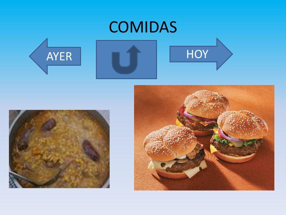 COMIDAS AYER HOY