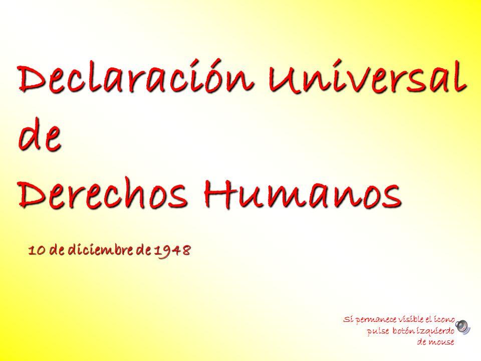 Declaración Universal de Derechos Humanos