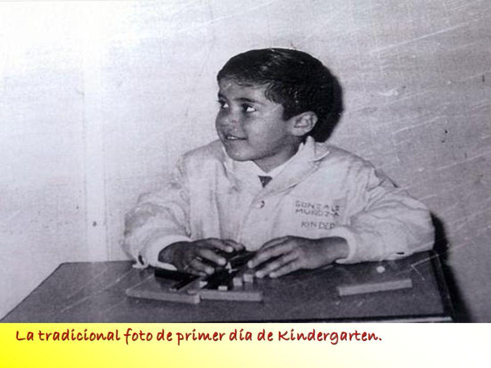 La tradicional foto de primer día de Kindergarten.