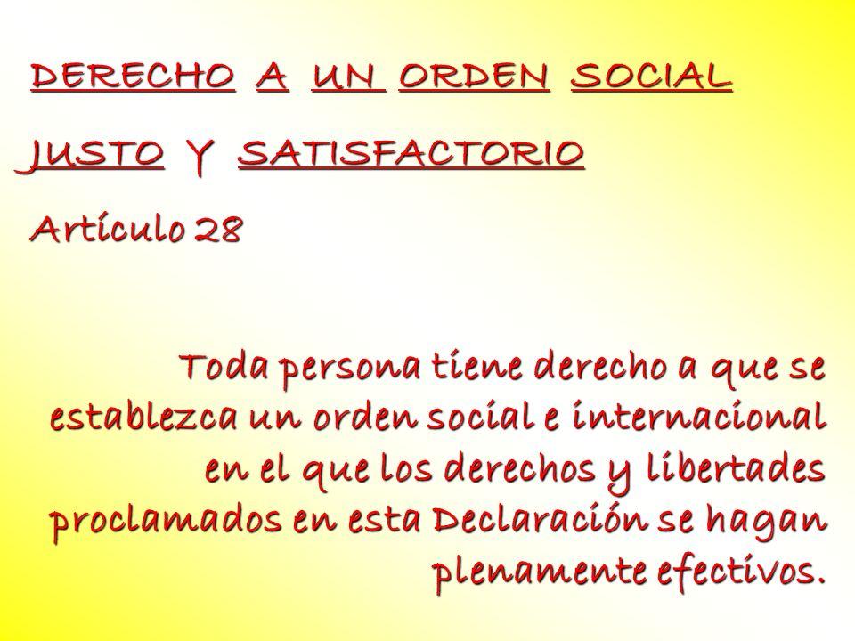 DERECHO A UN ORDEN SOCIAL
