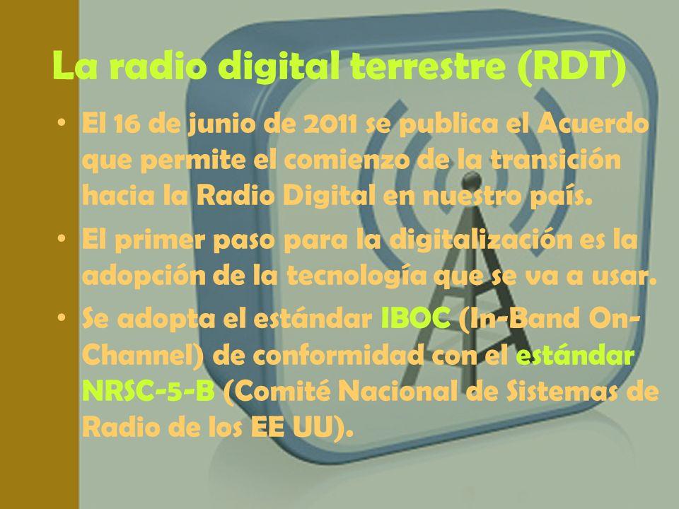 La radio digital terrestre (RDT)