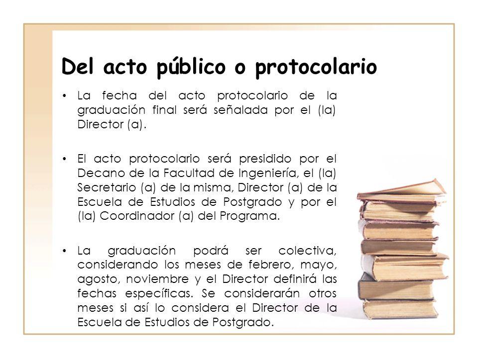 Del acto público o protocolario