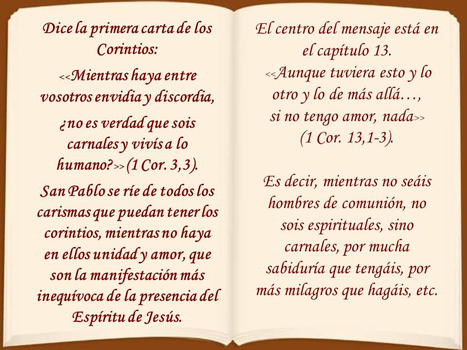 El centro del mensaje está en el capítulo 13.