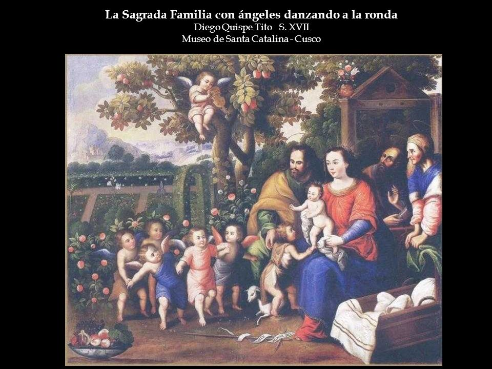 La Sagrada Familia con ángeles danzando a la ronda