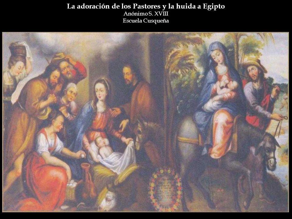 La adoración de los Pastores y la huida a Egipto