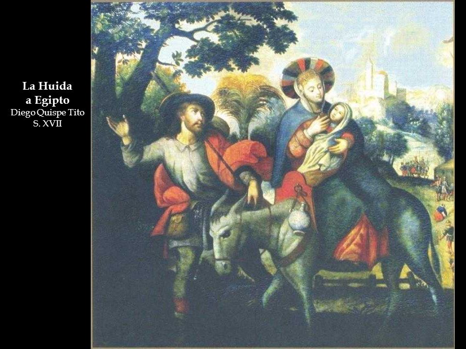 La Huida a Egipto Diego Quispe Tito S. XVII