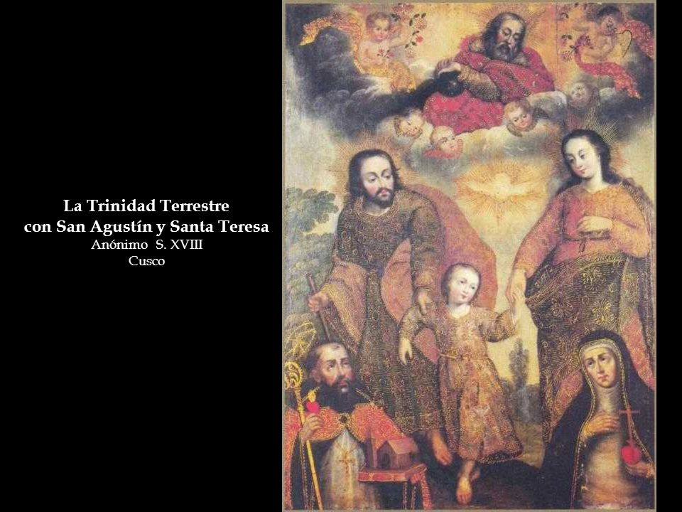 con San Agustín y Santa Teresa