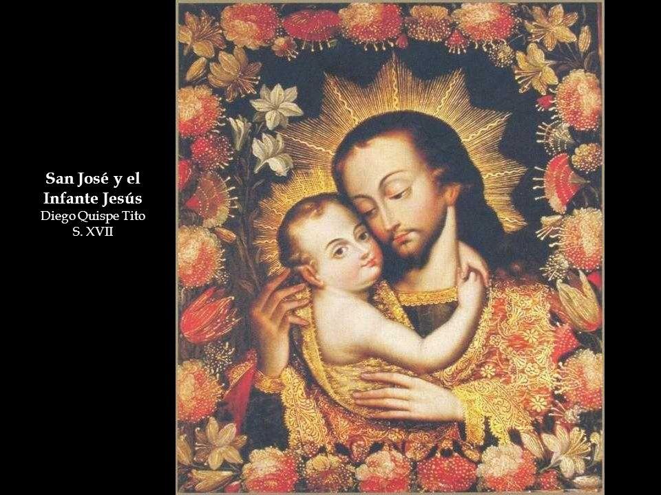 San José y el Infante Jesús Diego Quispe Tito S. XVII