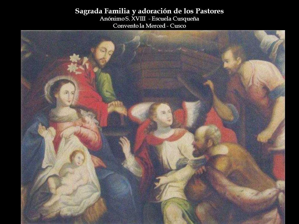 Sagrada Familia y adoración de los Pastores