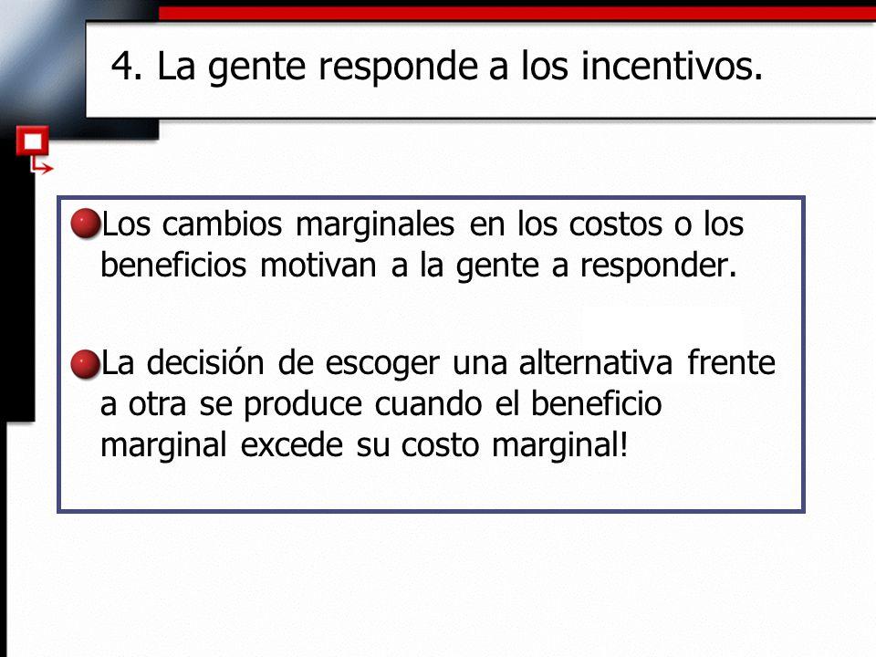 4. La gente responde a los incentivos.