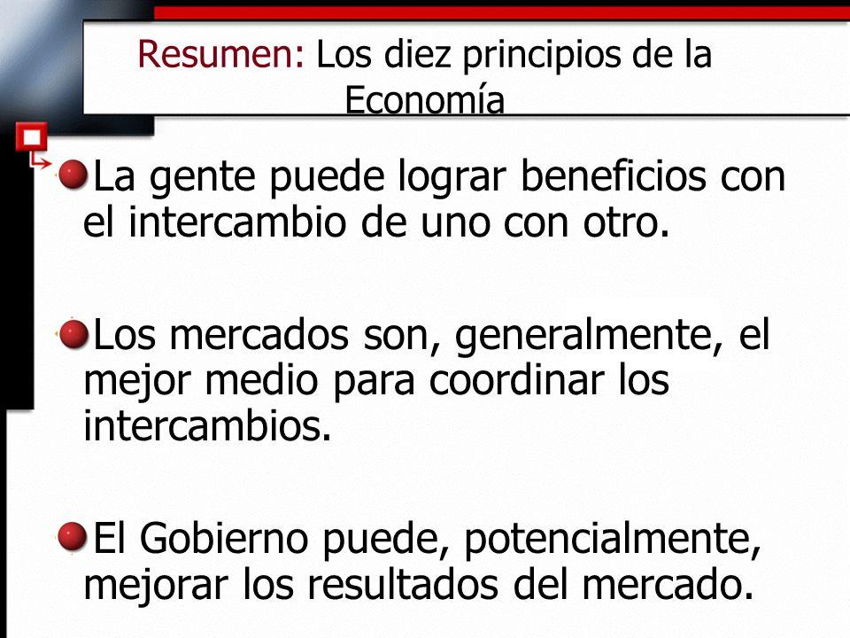 Resumen: Los diez principios de la Economía