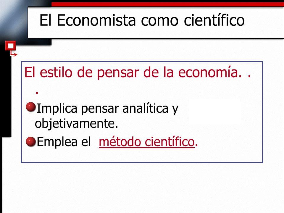 El Economista como científico