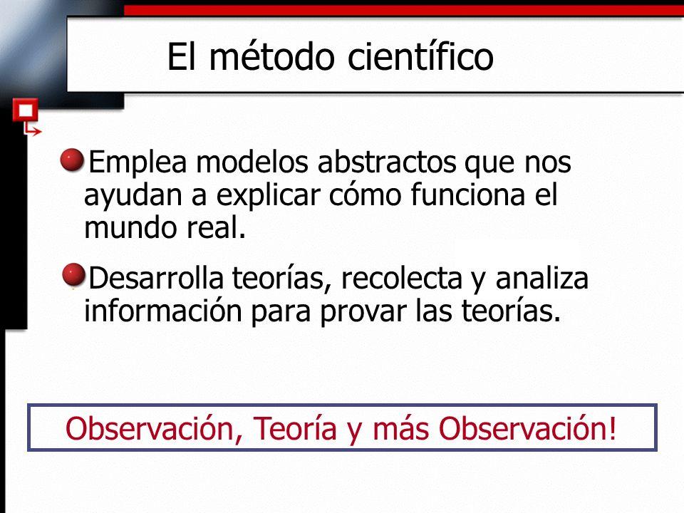 Observación, Teoría y más Observación!