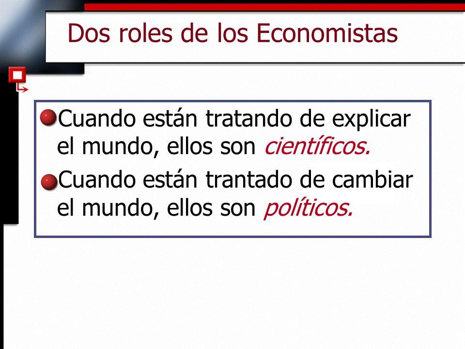 Dos roles de los Economistas