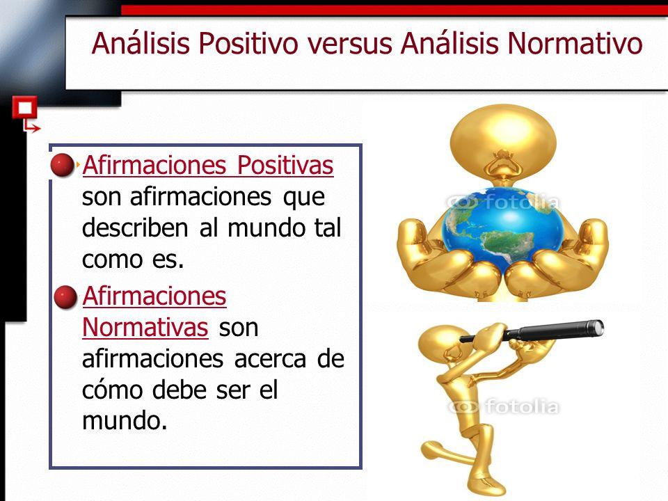 Análisis Positivo versus Análisis Normativo