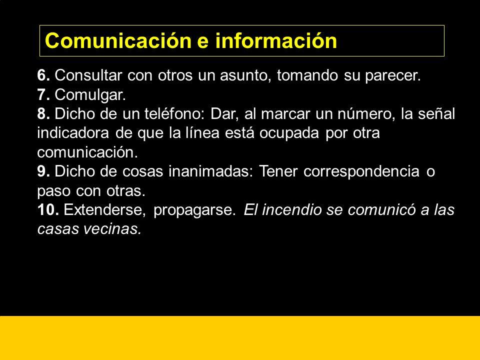 Comunicación e información