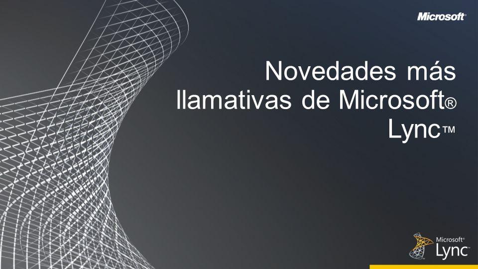 Novedades más llamativas de Microsoft® Lync™