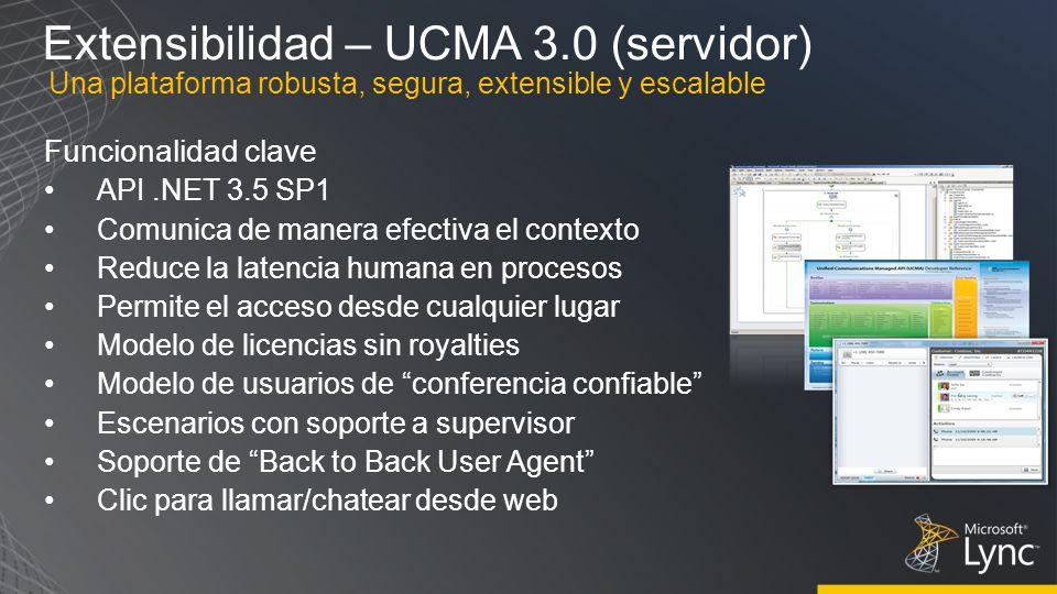 Extensibilidad – UCMA 3.0 (servidor)