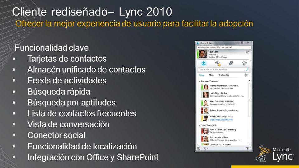 Cliente rediseñado– Lync 2010
