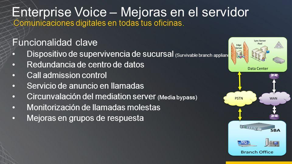 Enterprise Voice – Mejoras en el servidor
