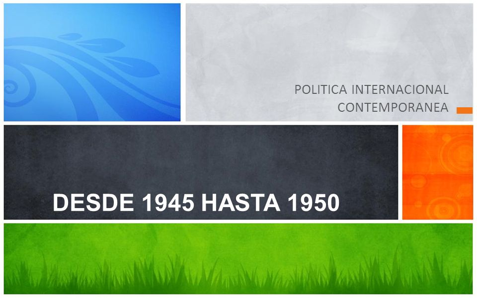 POLITICA INTERNACIONAL CONTEMPORANEA
