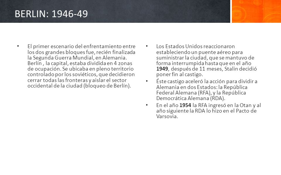 BERLIN: 1946-49