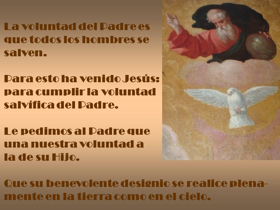 La voluntad del Padre es
